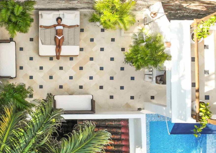 AMARLA BOUTIQUE HOTEL, un buen espacio para una boda de cultura caribe