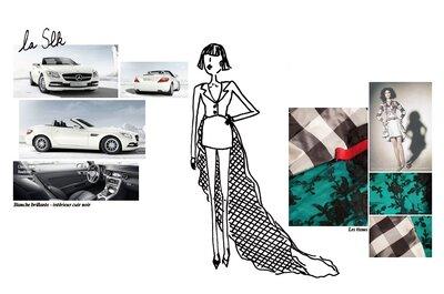 Zélia expose chez Mercedes Benz: 5 princesses des temps modernes partant au bal dans leur carrosse d'acier