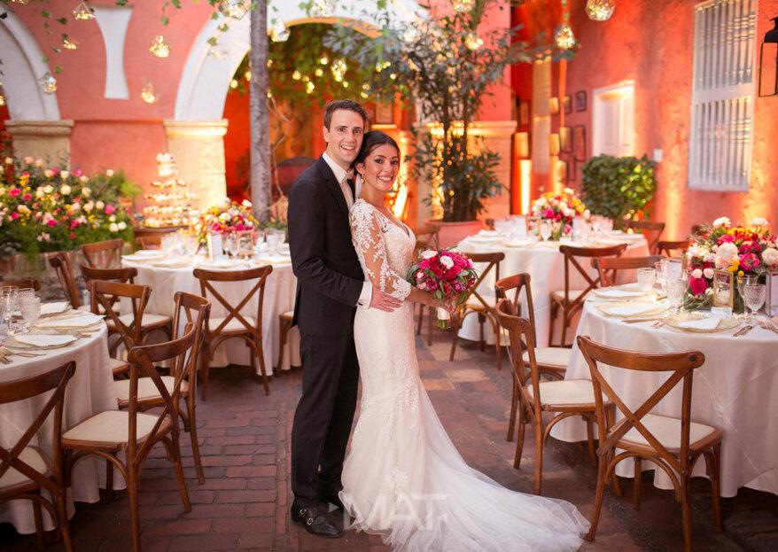 Casa Fernández de Madrid: el romance de la arquitectura colonial de Cartagena, en tu boda