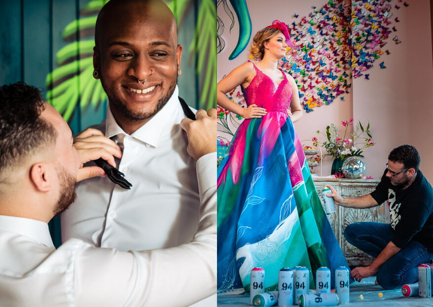 Urban Art Luxury Cocktail Wedding shoot