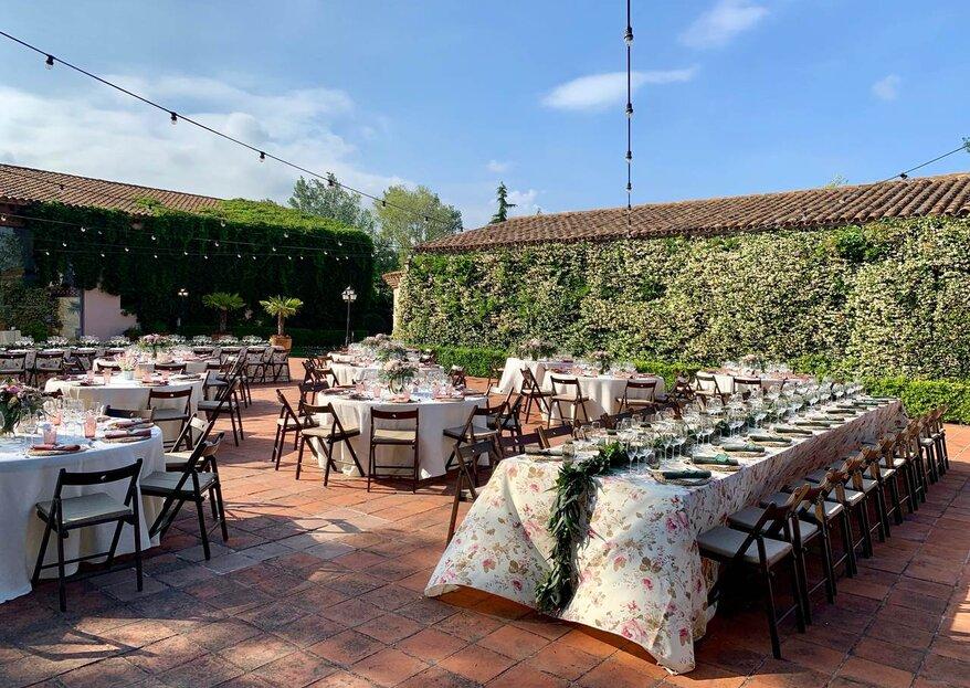 Mas Bonvilar: multitud de espacios con infinitas posibilidades para tu boda