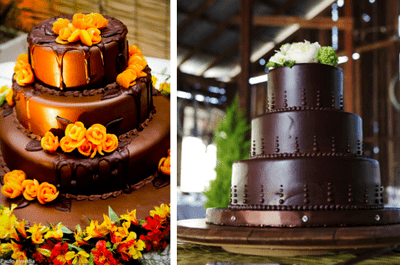 Bolo de chocolate: uma opção linda e deliciosa para o seu casamento