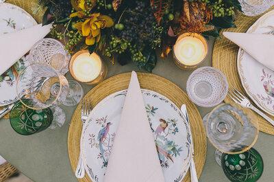 Como escolher os pratos e copos de acordo com o estilo do casamento!