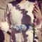 Blue floral belt