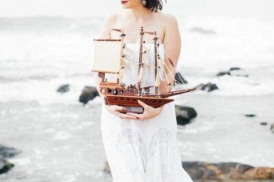 Como fazer um casamento com inspiração no mar: styled shoot pela Efeito Espontâneo