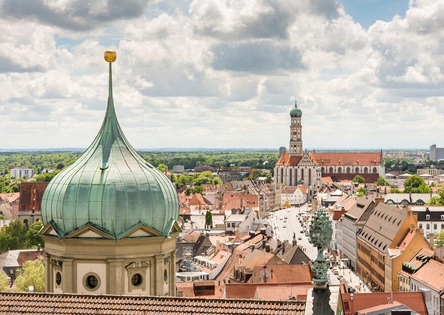 Herrliche Hochzeitslocations in Augsburg und Umgebung
