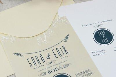 Las invitaciones que necesitas para tu boda: personalízalas según tu estilo