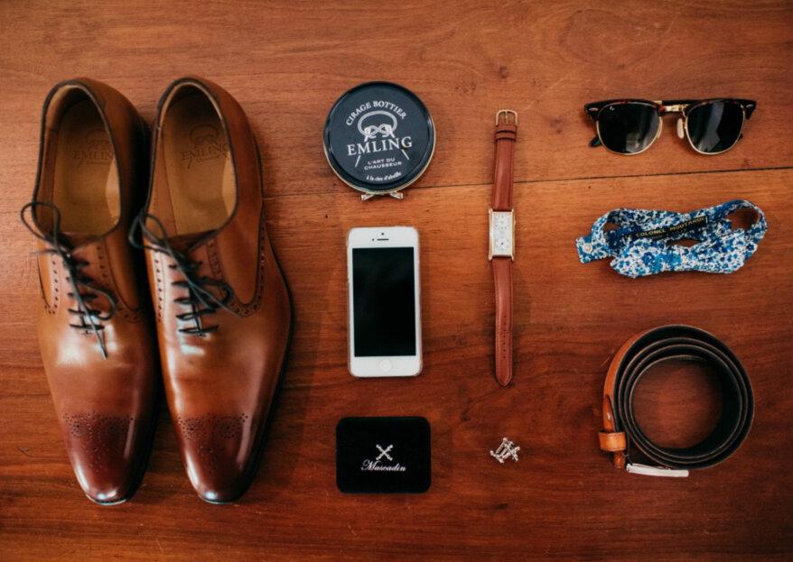 Cravate, nœud papillon, boutons de manchette : tous les accessoires masculins pour le costume de mariage
