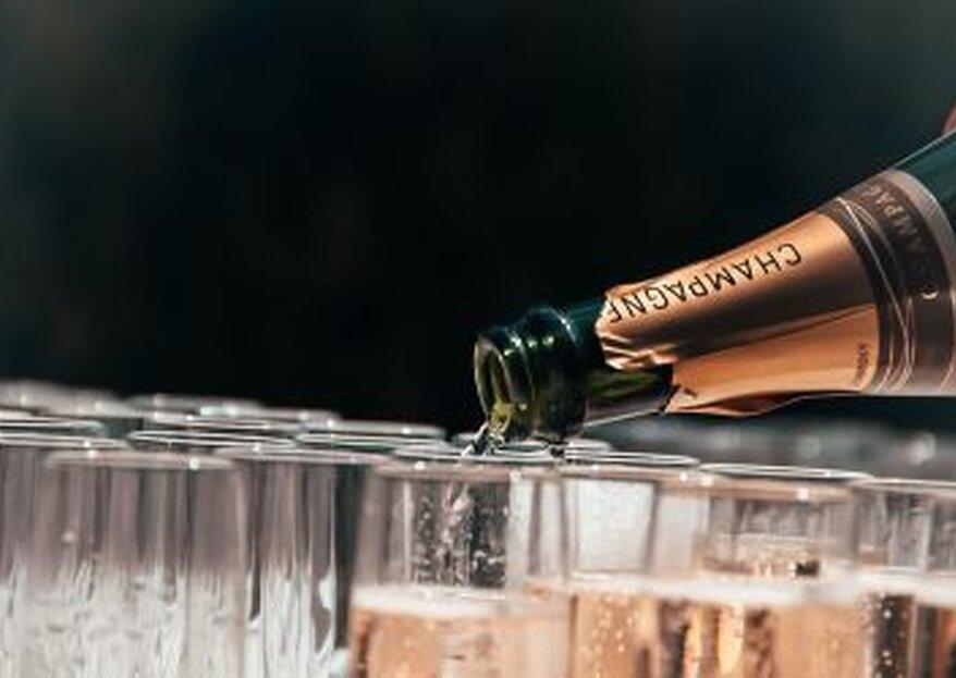 Der Welcome Drink beim Hochzeitsempfang