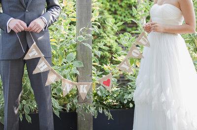 La vie en rose: El ramo de novia más lindo de la historia y pajaritos de origami por doquier