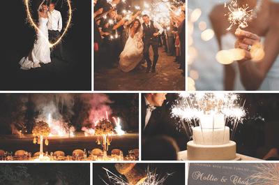 Fuegos artificiales, la mejor inspiración para decorar tu boda: Una oda a la magia