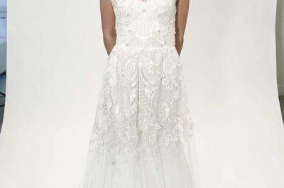 Brocados de ensueño en los vestidos de novia primavera 2015 de Lela Rose