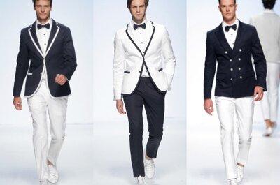 ¿Sabes lo que será tendencia en trajes de novio para el 2015? De Marinero a Hipster