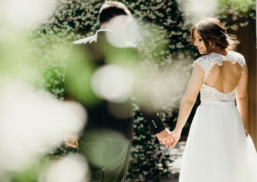Quando a natureza traz as boas energias que precisa para o casamento