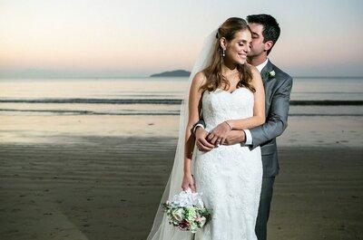 Catarina e Aloysio: casamento SUPER romântico ao pôr do sol em Búzios