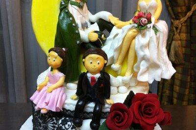 Figuras de novios personalizadas en azúcar