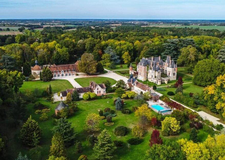 Château de Courcelles le Roy : un lieu somptueux pour les festivités de votre beau jour