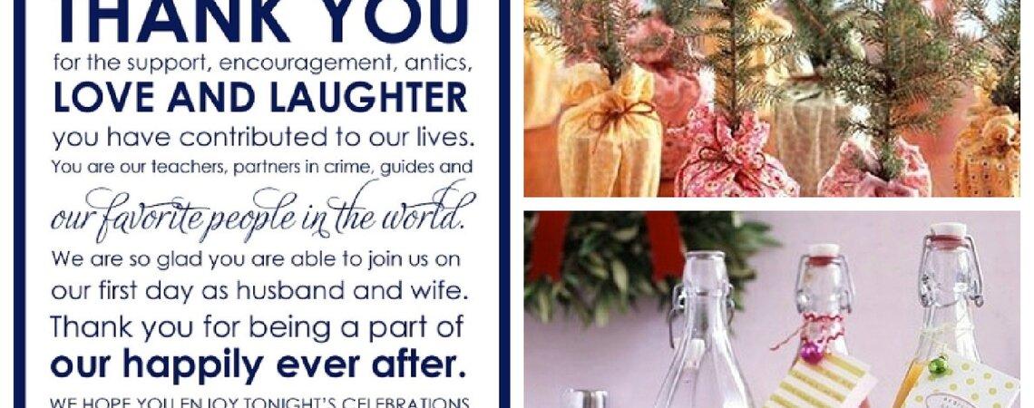 Ein Dankeschön für die Hochzeitsgäste – 5 Tipps für tolle Geschenke