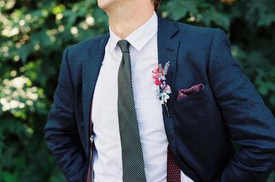 8 accesorios de moda para que tu novio luzca guapísimo el día de la boda