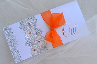 Annoncez votre mariage avec des faire part chics et romantiques qui scintillent de bonheur !