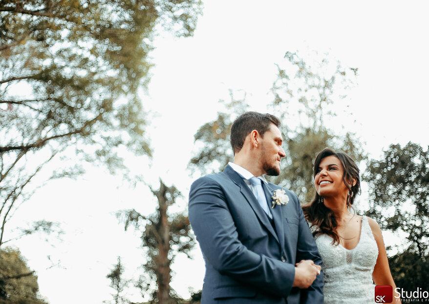 Patrícia & Rodrigo: Casamento ao ar livre com estilo boho-chique e linda decoração produzida pela Flor Brasileira