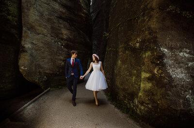 Sesja ślubna Klaudii i Jakuba w Skalnym Mieście, to miłość Pary między skałami otulonymi mchem! Piękna!