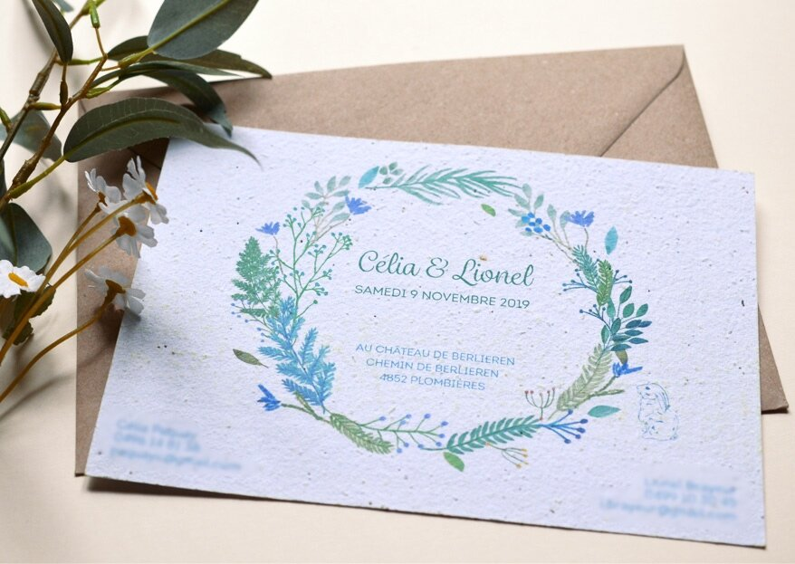 Découvrez les créations green de l'Atelier d'Elsa et ses faire-part bio à planter dans le jardin de vos invités