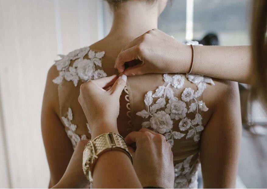 Guía definitiva para hacer los ajustes a tu vestido de novia antes de la boda