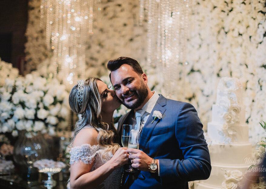 Gabriela & Kadu: super casamento com decoração sofisticada e cheio de atrações especiais para celebrar a felicidade do casal