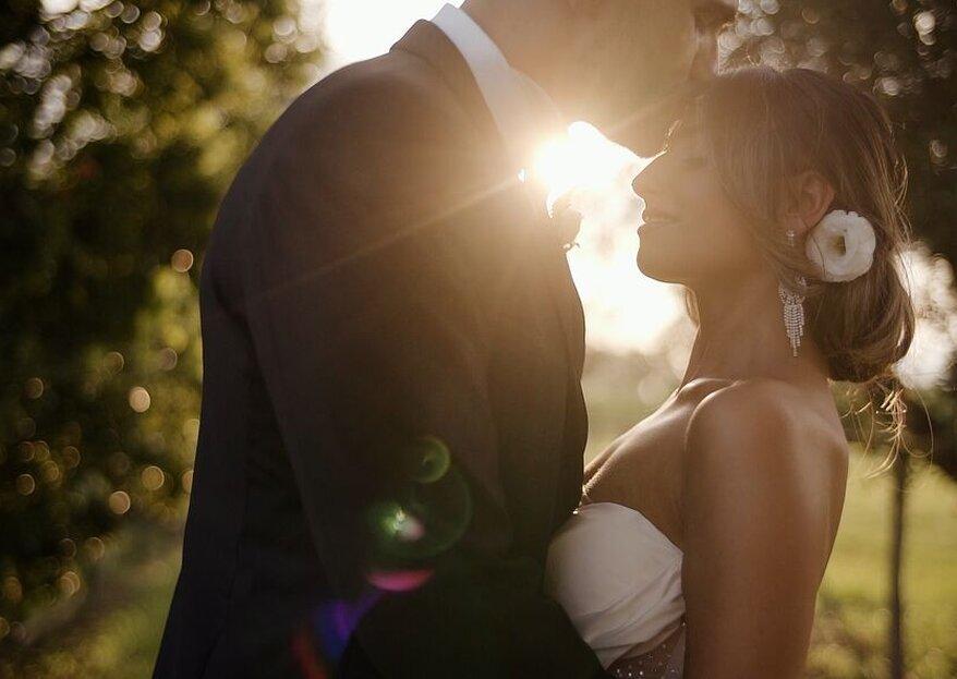 Un bacio romantico nel giorno del vostro matrimonio, quale scatto migliore?