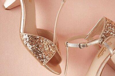 Zapatos de novia en color rose gold: La tendencia más encantadora