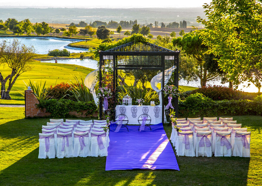 Una boda a golpe de 'swing' en Suites Retamares Club de Golf