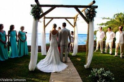 O verão chegou: acessórios e make up de noiva que combinam com o calor