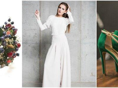 Novias con pantalón palazzo. ¡Atrévete con el nuevo look de la semana!