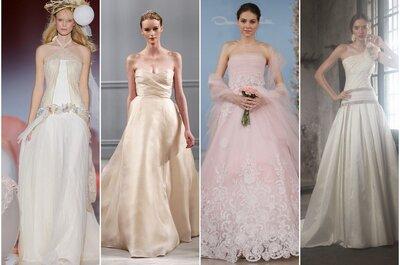 Vestidos de novia en colores pastel 2014
