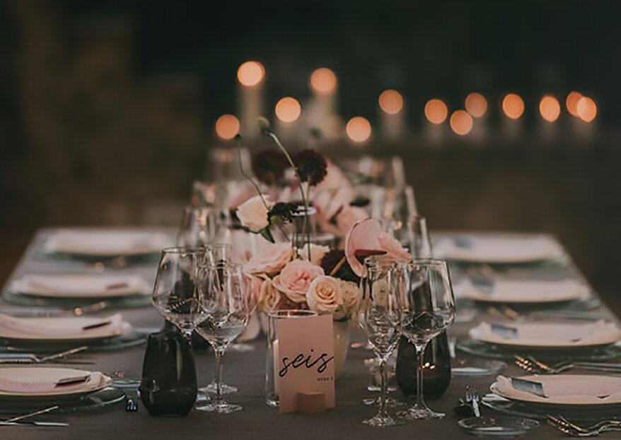 Como escolher os marcadores de mesa do casamento