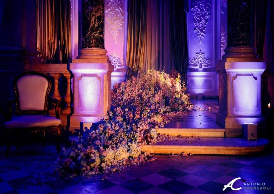 Stylosofie: scegli una decorazione floreale scenografica per le tue nozze
