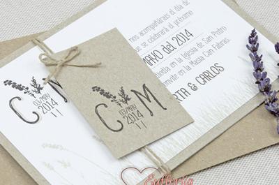 Ideas increíbles para tus invitaciones y recuerdos de boda