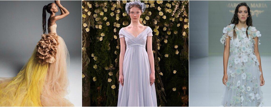 Farbige Brautkleider: Heben Sie sich vom Rest der Bräute ab!