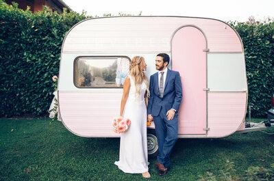 Una roulotte rosa ed un grande sogno: le nozze shabby chic di Elisa ed Alexandre