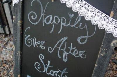 Llena tu boda de tableros con mensajes inolvidables y divertidos