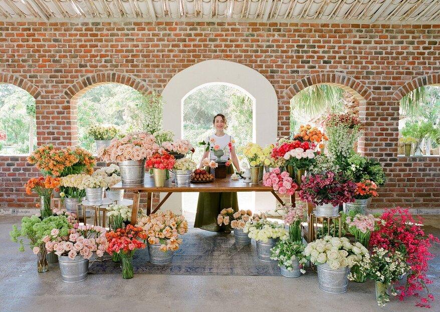 Tulipina en Roma: un taller exclusivo de la diseñadora floral más famosa de Estados Unidos