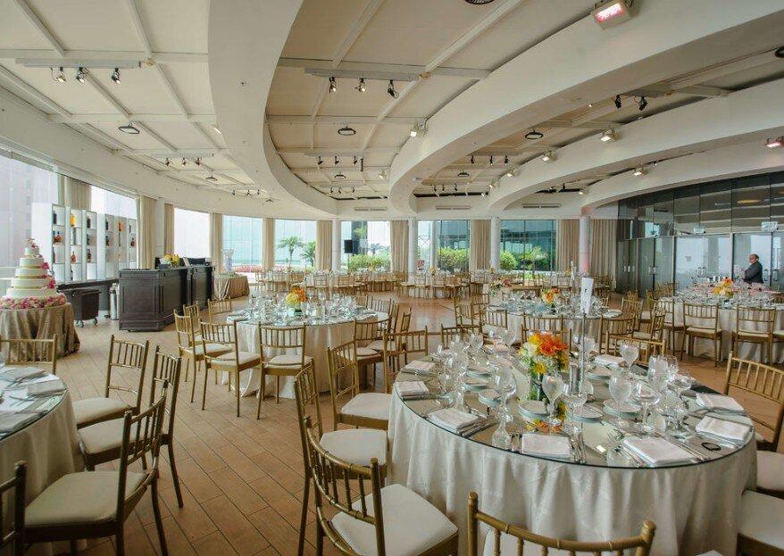 Todo lo que los salones del JW Marriott Hotel Lima y Courtyard Lima Miraflores by Marriott tienen para ofrecerte en tu matrimonio