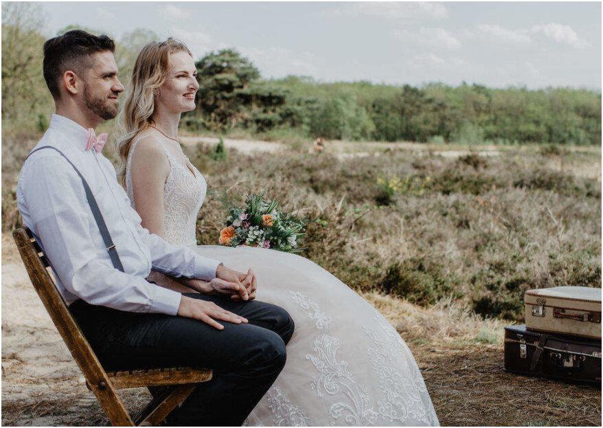 Creatieve setting voor de trouwceremonie