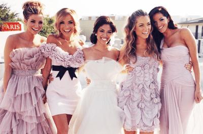 Tendencias 2014 en vestidos para damas de boda