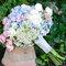 Precioso bouquet de novia en tonos pastel.