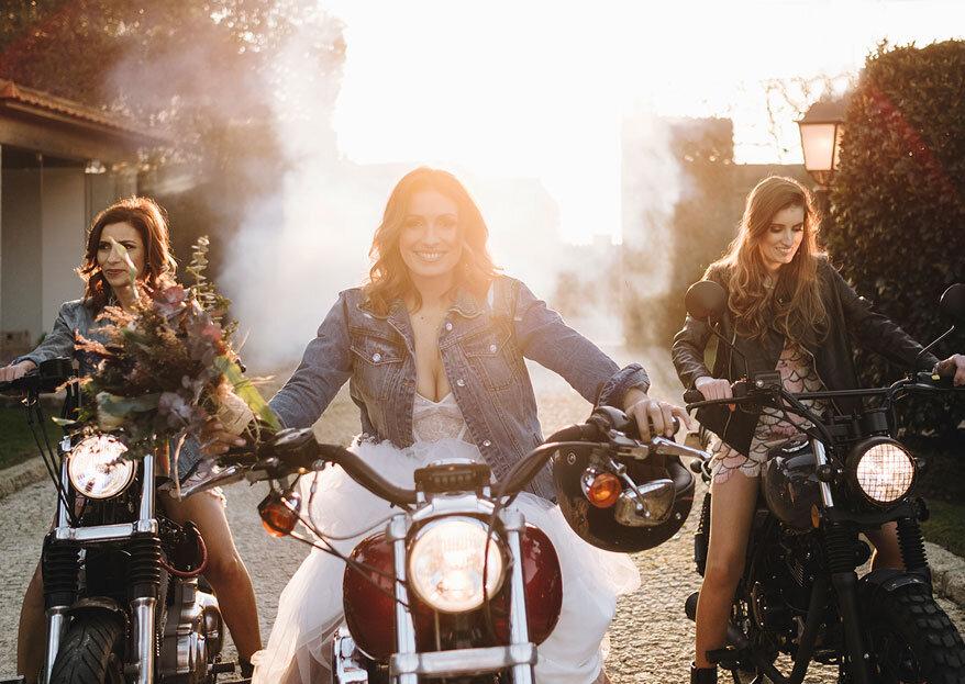 Bride & Ride Styled Shoot: estilo, câmara e muita ação em andamento...