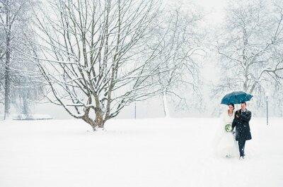 10 Gründe, warum ein Hochzeits-Shooting im Winter wunderschön ist!