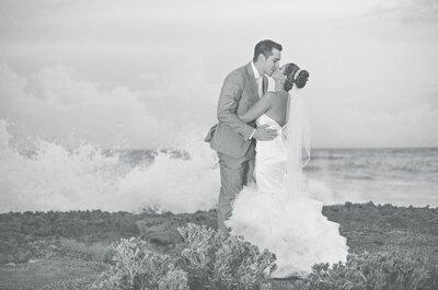 Moonlight and Sea: Jackeline + Christopher's Wedding in the Caribbean