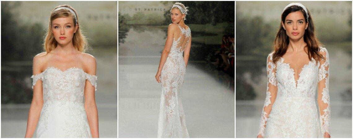 Vestidos de novia St. Patrick 2018: una colección llena de detalles que enamoran